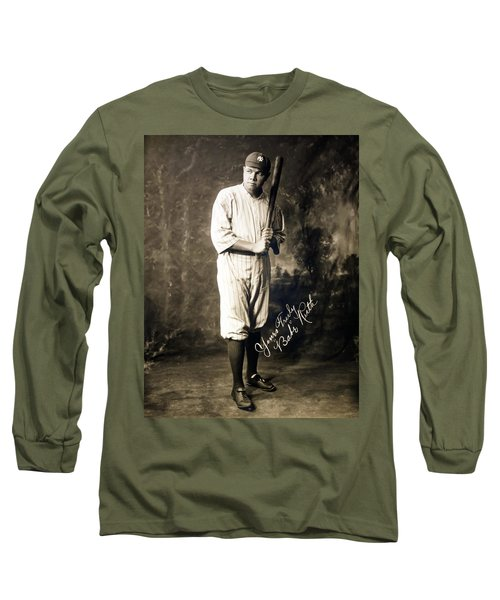 Babe Ruth 1920 Long Sleeve T-Shirt by Mountain Dreams