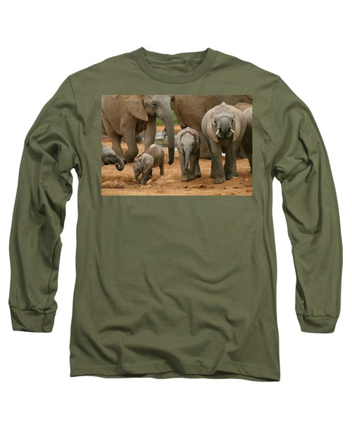Baby African Elephants Long Sleeve T-Shirt