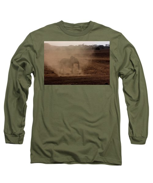 Long Sleeve T-Shirt featuring the photograph Baby Elephant  by Amanda Stadther