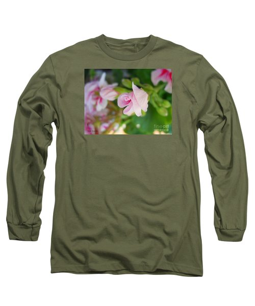 Long Sleeve T-Shirt featuring the photograph Baby Geranium by Ramona Matei