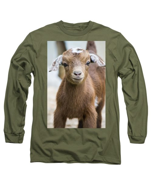Baby Goat Long Sleeve T-Shirt by Shelby  Young
