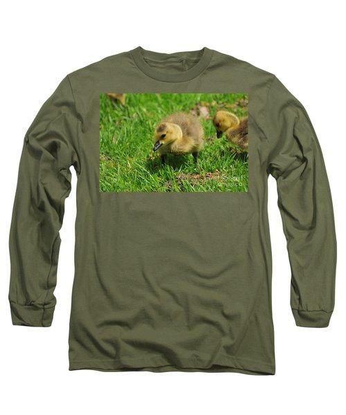 Baby Goose Too Cute Long Sleeve T-Shirt