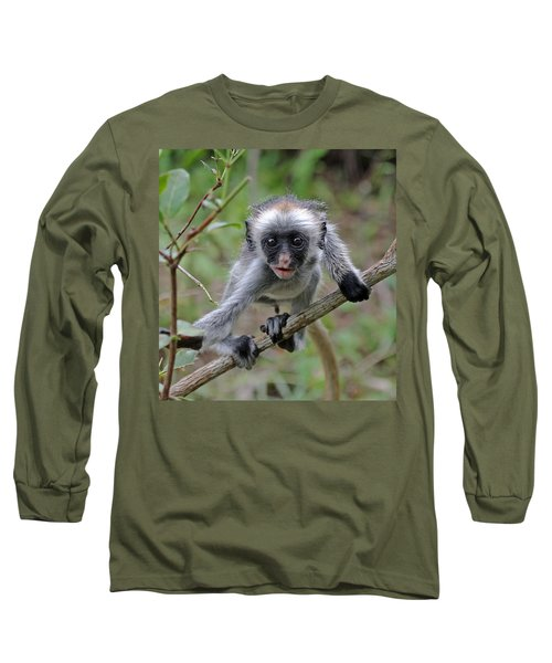 Baby Red Colobus Monkey Long Sleeve T-Shirt