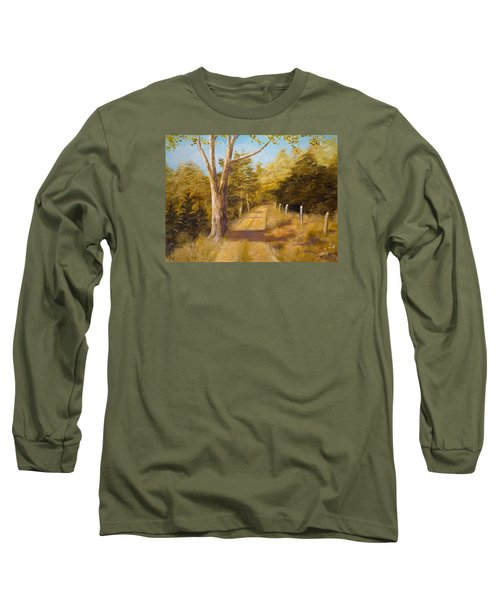 Back Road Long Sleeve T-Shirt by Alan Lakin