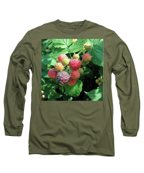 Long Sleeve T-Shirt featuring the photograph Fruit- Black Raspberries - Luther Fine Art by Luther Fine Art