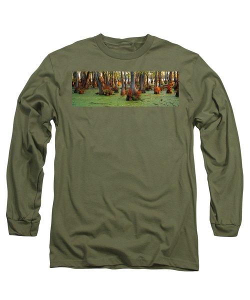Bald Cypress Trees Taxodium Disitchum Long Sleeve T-Shirt
