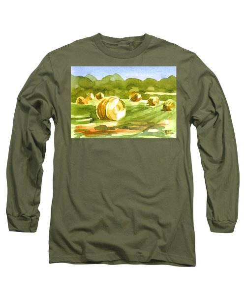 Bales In The Morning Sun Long Sleeve T-Shirt