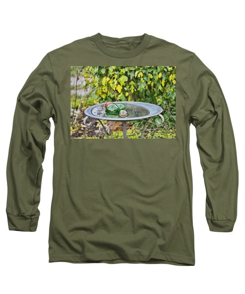 Long Sleeve T-Shirt featuring the photograph Balls In Water by Denise Romano