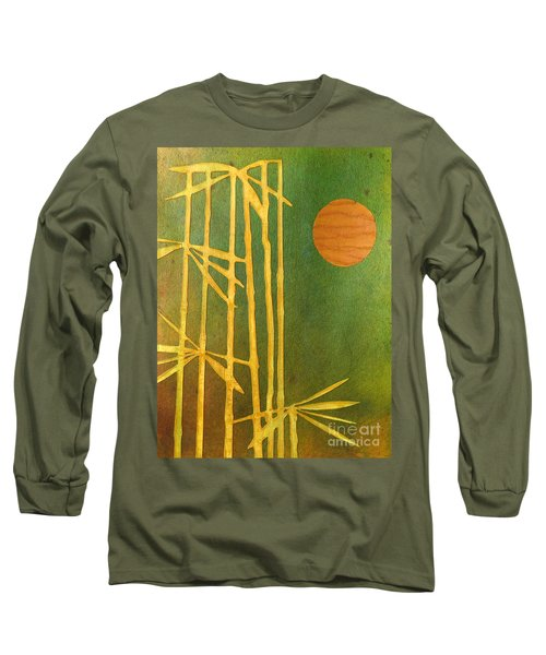 Bamboo Moon Long Sleeve T-Shirt by Desiree Paquette
