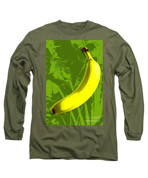 Banana Pop Art Long Sleeve T-Shirt
