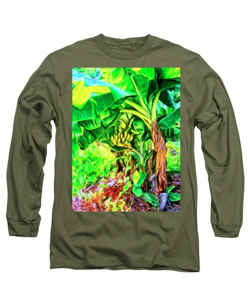 Bananas In Lahaina Maui Long Sleeve T-Shirt