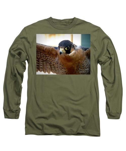 Barbary Falcon Wings Stretched Long Sleeve T-Shirt