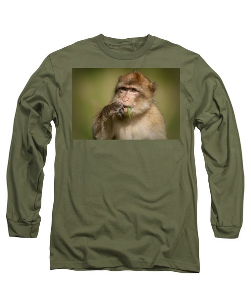 Barbary Macaque Long Sleeve T-Shirt