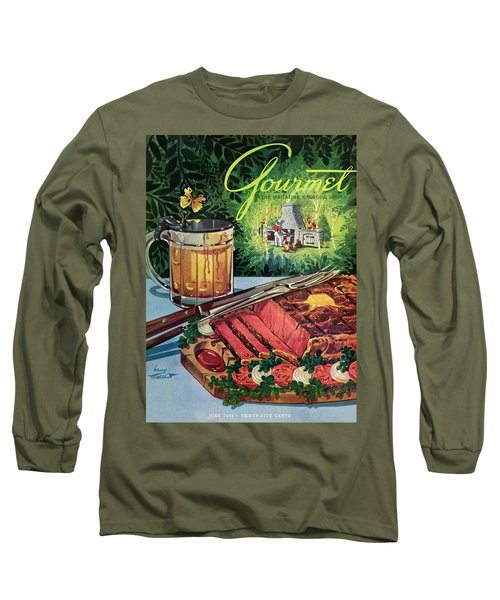 Barbeque Meat And A Mug Of Beer Long Sleeve T-Shirt