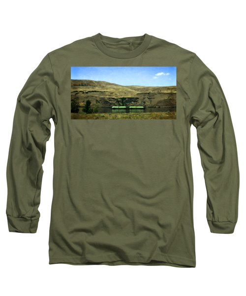 Barges On The Columbia Long Sleeve T-Shirt