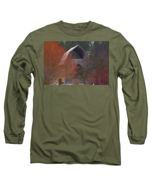 Barn Off Daisy Mine Road  Long Sleeve T-Shirt by Loni Collins