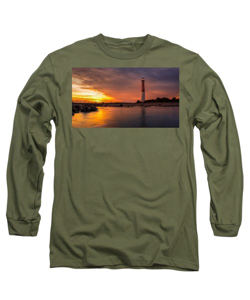 Barnegat Sunset Light Long Sleeve T-Shirt