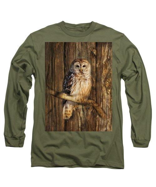 Barred Owl 1 Long Sleeve T-Shirt by Lori Deiter