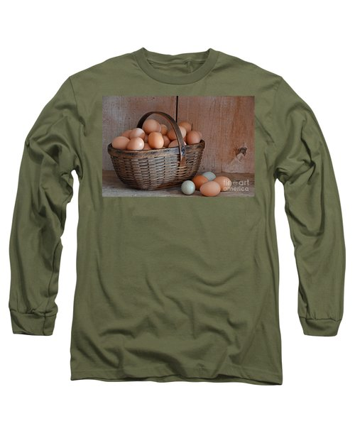 Basket Full Of Eggs Long Sleeve T-Shirt