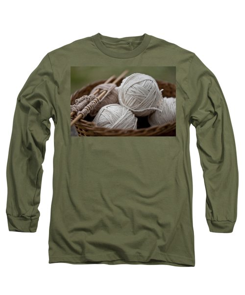 Basket Of Yarn Long Sleeve T-Shirt