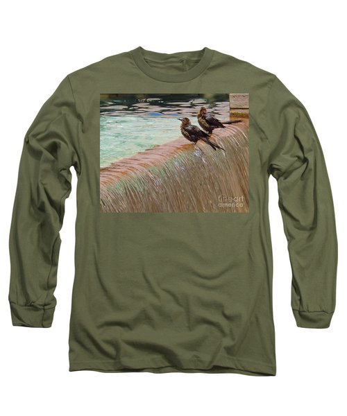 Long Sleeve T-Shirt featuring the photograph Bath Time At The Adolphus by Robert ONeil