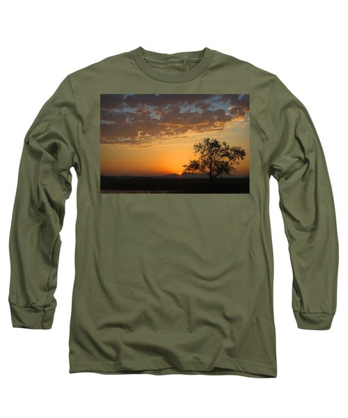 Long Sleeve T-Shirt featuring the photograph Bayview Sunset by Sonya Lang