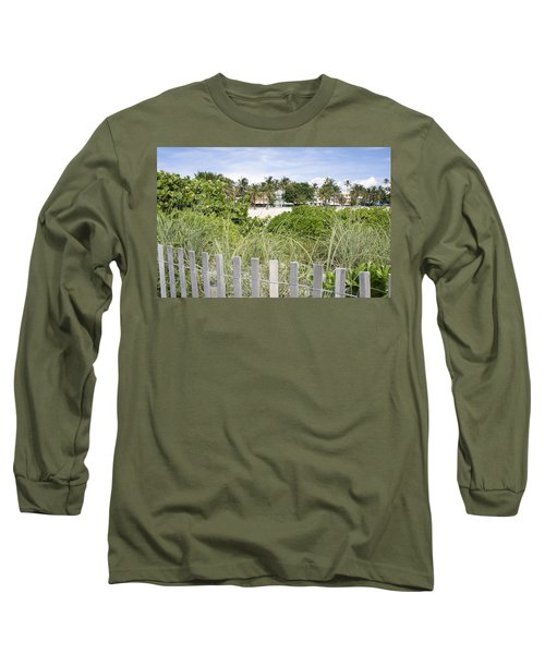 Long Sleeve T-Shirt featuring the photograph Beach Path by Laurie Perry