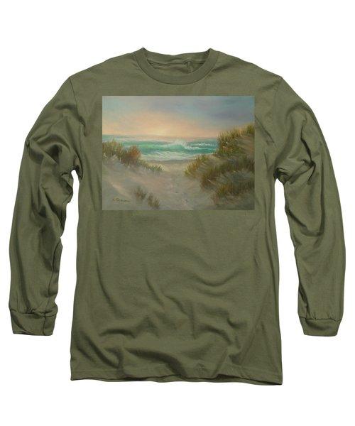 Cape Cod Beach Sunset Dunes Print  Long Sleeve T-Shirt