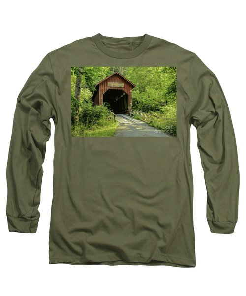 Bean Blossom Covered Bridge Long Sleeve T-Shirt