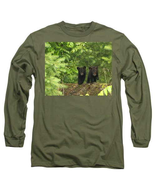 Long Sleeve T-Shirt featuring the photograph Bear Buddies by Coby Cooper