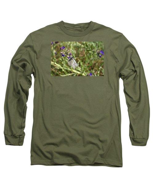 Beautiful Butterfly In Vegetation Long Sleeve T-Shirt