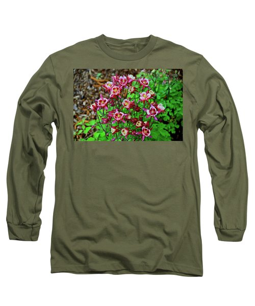 Beautiful Columbine   Long Sleeve T-Shirt by Ed  Riche