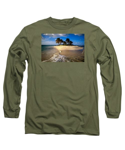 Long Sleeve T-Shirt featuring the painting Beautiful Island by Bruce Nutting