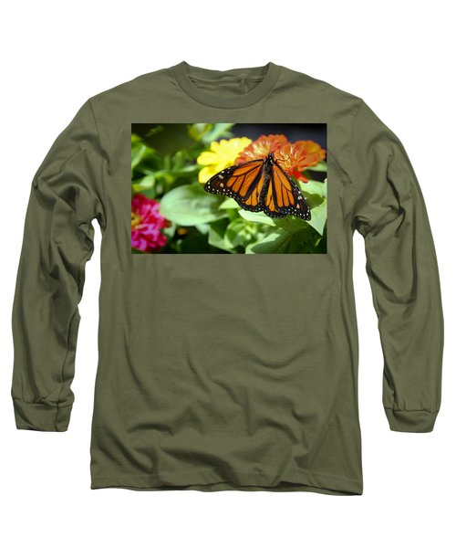 Long Sleeve T-Shirt featuring the photograph Beautiful Monarch Butterfly by Patrice Zinck