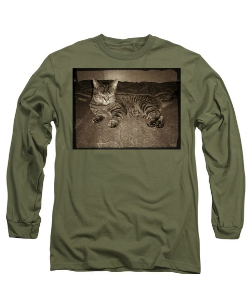 Long Sleeve T-Shirt featuring the photograph Beautiful Tabby Cat by Absinthe Art By Michelle LeAnn Scott