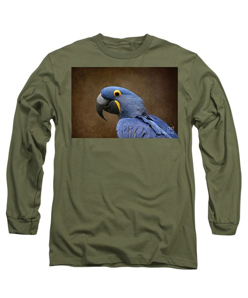 Beauty Is An Enchanted Soul - Hyacinth Macaw - Anodorhynchus Hyacinthinus Long Sleeve T-Shirt