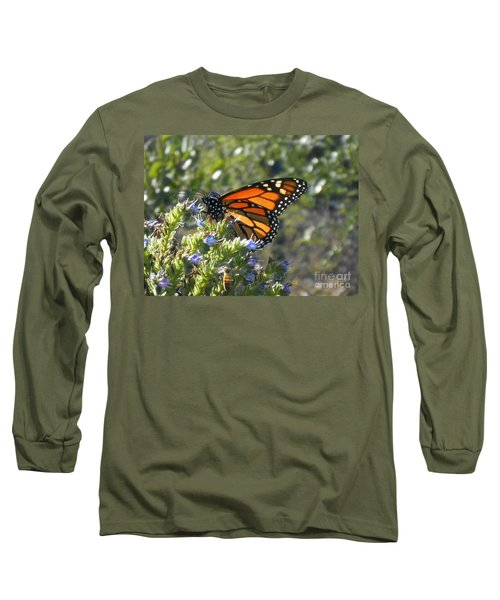 Bee And Monarch  Long Sleeve T-Shirt