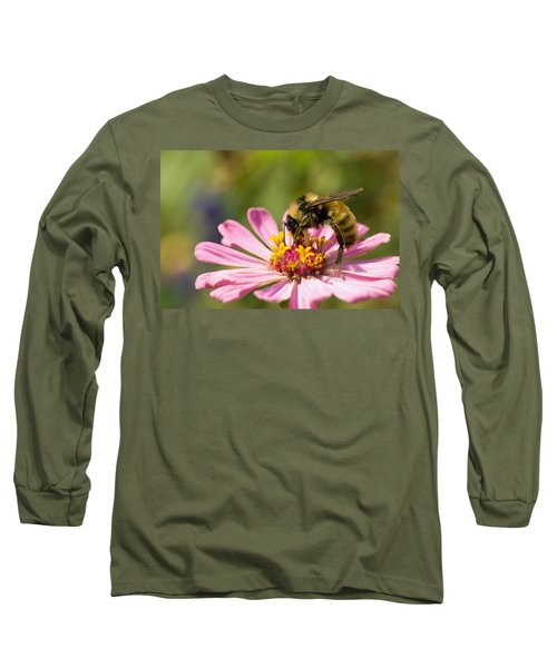 Bee At Work Long Sleeve T-Shirt by Greg Graham