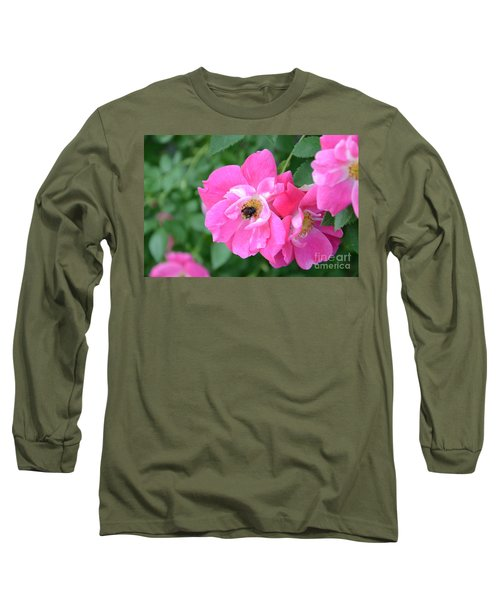 Bee Rosy Long Sleeve T-Shirt