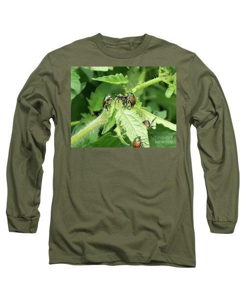 Long Sleeve T-Shirt featuring the photograph Beetle Posse by Thomas Woolworth