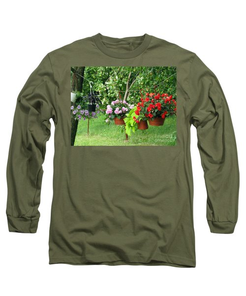 Begonias On Line Long Sleeve T-Shirt