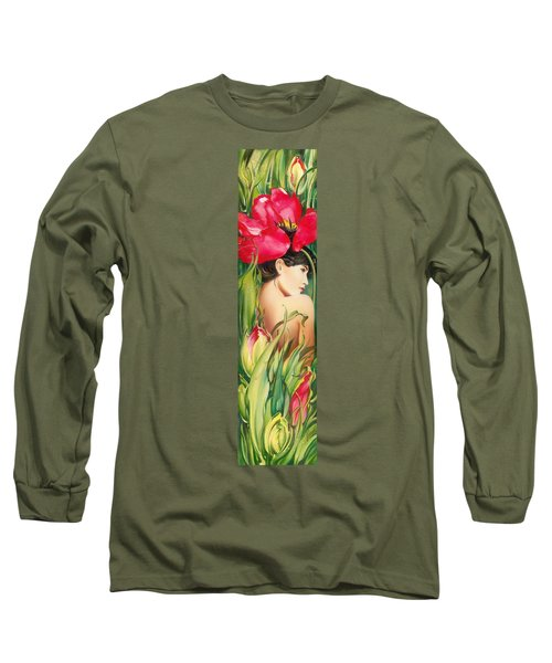 Behind The Curtain Of Colours -the Tulip Long Sleeve T-Shirt