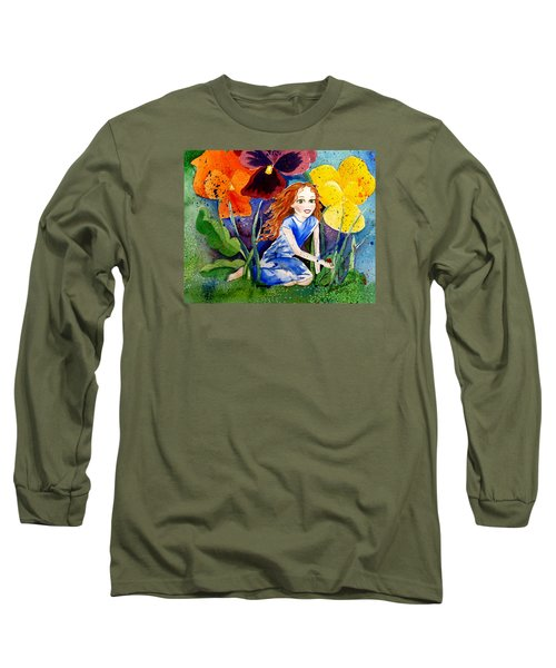 Tiny Flower Fairy Long Sleeve T-Shirt