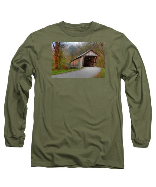 Bennett Mill Covered Bridge Long Sleeve T-Shirt