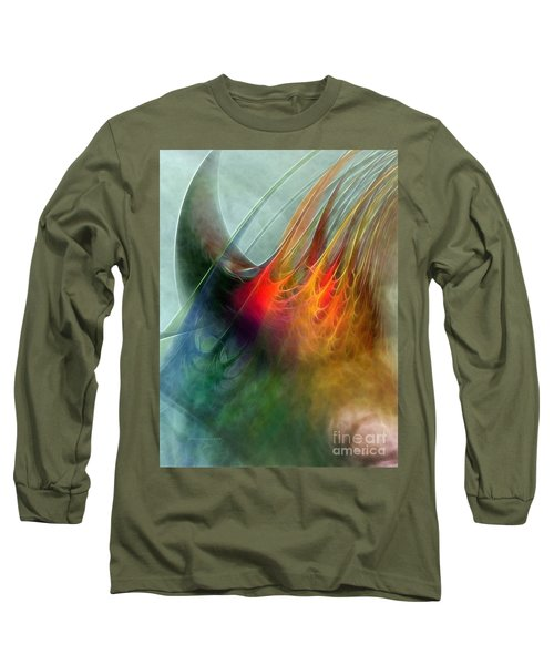 Between Heaven And Earth-abstract Long Sleeve T-Shirt