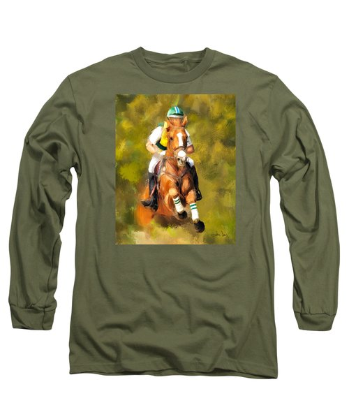 Long Sleeve T-Shirt featuring the photograph Between The Flags by Joan Davis