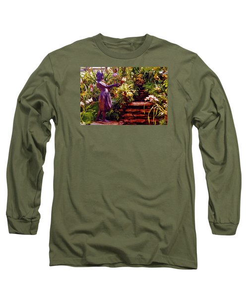 Between The Steps Long Sleeve T-Shirt by Daniel Thompson