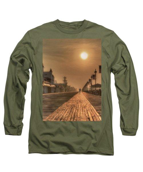 Bicycle Boardwalk Long Sleeve T-Shirt