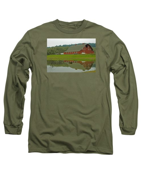 Long Sleeve T-Shirt featuring the photograph Big Red by Nick  Boren