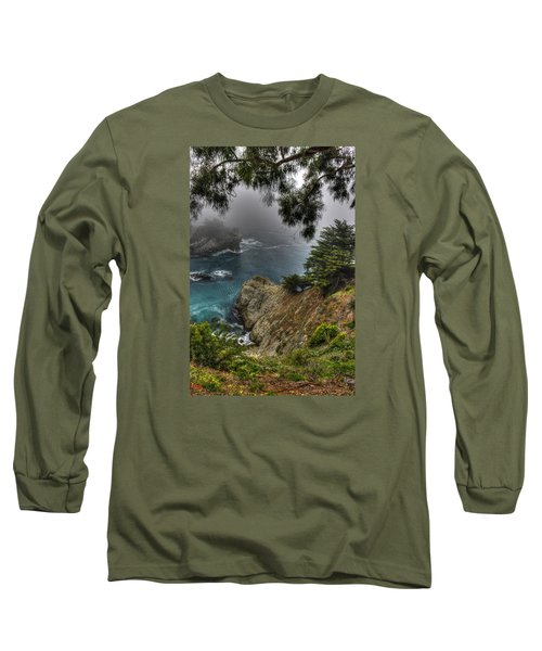 Big Sur Julia Pfeiffer State Park-1 Central California Coast Spring Early Afternoon Long Sleeve T-Shirt by Michael Mazaika